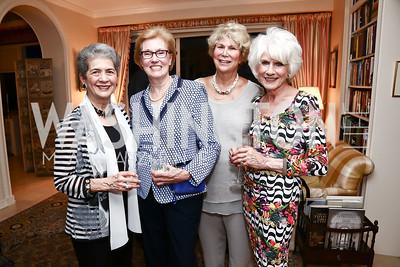 Betty Sams, Ann Tanous, Karen Fawcett, Diane Rehm. Photo by Tony Powell. Lucky Roosevelt NPR party. September 11, 2015