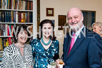 Didi Cutler, Alexandra de Borchgrave, Ramon Gil-Casares. Photo by Tony Powell. Lucky Roosevelt NPR party. September 11, 2015