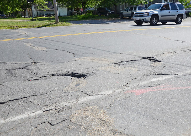 Summer Street businesses are being effected by the deterioration of the road's condition. SENTINEL & ENTERPRISE / Ashley Green