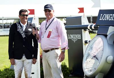 Paul O'Shea, winner of the Longine  $40,000 cup, Oliver Kennedy