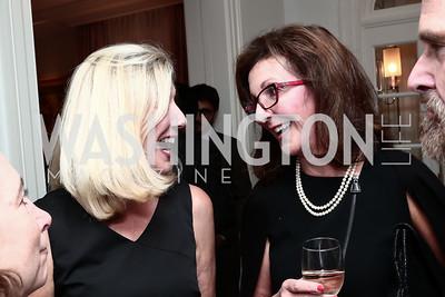 Sherrie Petermann, Linda Zecher. Photo by Tony Powell. Fast Forward Book Party. McLarty Residence. October 13, 2015