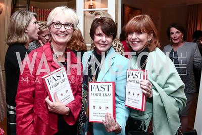 Fran Ulmer, Marlene Malek, Susan Davis. Photo by Tony Powell. Fast Forward Book Party. McLarty Residence. October 13, 2015
