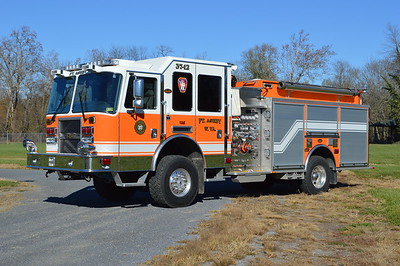 A large 4wd 2009 KME Predator XMFD for Engine 37-12 at Ft. Ashby, West Virginia in Mineral County.  1500/1000/30 and KME s/n GSO 7688.