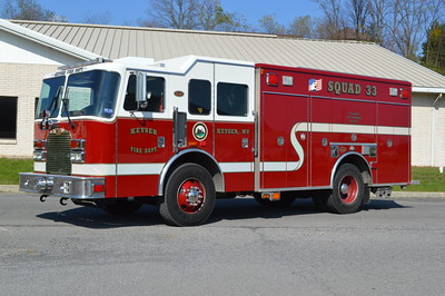 Keyser, WV Squad 33, a 2006 KME Excel non walk in squad body.  Serial number GSO 6396.