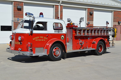 The driver side of Keyser's Engine 33-12, a 1947 American LaFrance.  Keyser's apparatus history consists of a variety of American LaFrance apparatus.