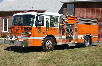 Fort Ashby, WV - Engine 37-11 - E 37-11 1985 Sutphen Deluge/2001 Sutphen  1500/1000 with serial number HS =-1941.  Rehab after accident $160,000 damage.