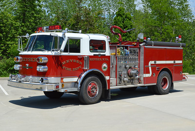 Another view of Keyser's Engine 33-15, as photographed in May of 2016.  A 1984 ALF Century equipped with a 1250/500 and serial number 18109.