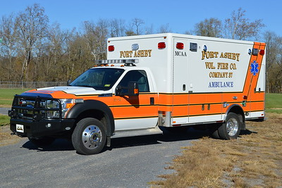 Fort Ashby's Ambulance 37-70 is a 2013 Ford F450 4x4/Horton.