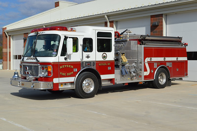 Keyser, WV - an unusual 1998 ALF Eagle 134/1999 KME.  1500/750 with KME job number GSO 4104.  One of two built (the other is in Roxboro, NC).