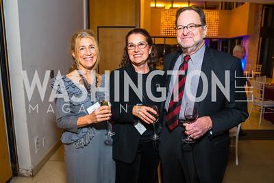 Ellen Meltzer, Tanya George, Norman Rosenberg. Photo by Alfredo Flores. Moment Magazine's 40th Anniversary Celebration Gala & Awards Dinner. Embassy of France. November 15, 2015