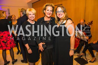 Jan Sedaka, Roslyn Needle, Johnna Raskin . Photo by Alfredo Flores. Moment Magazine's 40th Anniversary Celebration Gala & Awards Dinner. Embassy of France.CR2