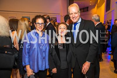 Elizabeth Scheuer, .Tamara Handelsman,  Photo by Alfredo Flores. Moment Magazine's 40th Anniversary Celebration Gala & Awards Dinner. Embassy of France. November 15, 2015
