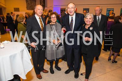 Bert Foer, Judith Shanks, Hershel Shanks, Esther Foer. Photo by Alfredo Flores. Moment Magazine's 40th Anniversary Celebration Gala & Awards Dinner. Embassy of France.CR2