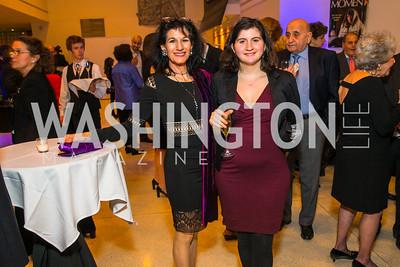 Laura Scheuer, Damella Dotan. Jonathan Strum, Rabbi Tamara Miller, Photo by Alfredo Flores. Moment Magazine's 40th Anniversary Celebration Gala & Awards Dinner. Embassy of France. November 15, 2015