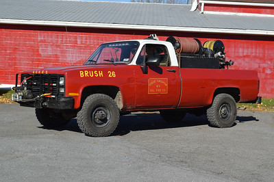 Great Cacapon, WV Brush 26, a 1985 Chevrolet Custom Deluxe/2005 RKO skid unit with a 125/250/5A.  Destroyed in station fire of 2016.
