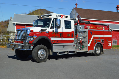 Former Engine 21 from Great Cacapon is a 2010 International 7500 4x4/2011 KME 1250/650/20 with serial number GSO 8072.  It carries a 5 bottle air cascade in the rear.  Sold to Saugatuck Township, Michigan.