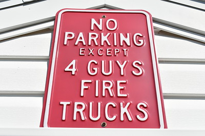 If you suspect that the South Morgan VFD in Morgan County West Virginia likes 4-Guys fire trucks, you are correct.  This sign is near the parking lot.