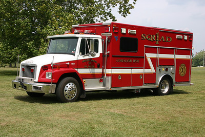 Squad 1, a 2000 Freightliner 80/EVI.  Includes a command module.  Serial number RM-2466.  Berkeley Springs, WV.