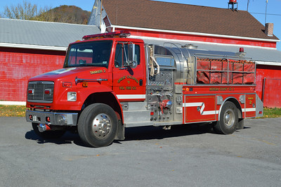 Great Cacapon, West Virginia Tanker 2, a 1998 Freightliner 80/4-Guys with a 1250/1800 and serial number F1932.  Destroyed in station fire in July 2016.