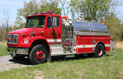 South Morgan Tanker 3-20, a 2002 Freightliner 80/4-Guys with a 1000/2000.  Serial number F2189-1.