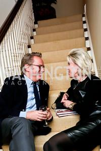 Ronald Braso, Mary Haft. Photo by Tony Powell. Lorraine Wallace Book Party. Berman Residence. February 12, 2015