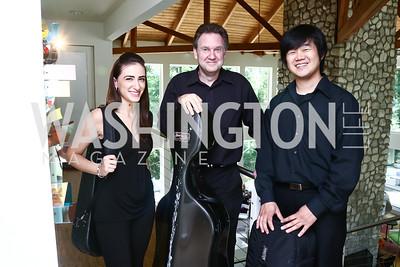 Allyson Goodman, Steven Honigberg, Ko Sugiyama. Photo by Tony Powell. Music at the Phillips 75th Season Preview. Stoker Residence. June 6, 2015