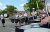 The North Penn High School Marching Knights percussion section rehearses during band camp at the school  on Tuesday afternon August 19,2014. Photo by Mark C Psoras/The Reporter
