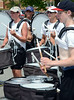 The North Penn High School Marching Knights percussion section rehearse during band camp at the school  on Tuesday afternon August 19,2014. Photo by Mark C Psoras/The Reporter