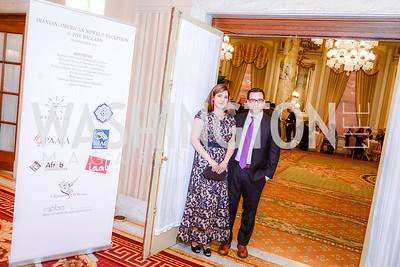 Sara Vakhshouri and Hayden Bellenoit , Iranian-American Nowruz Reception, The Willard Hotel, Tuesday, March 31, 2015, photo by Ben Droz.