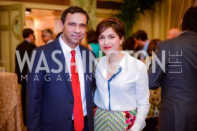 Alidad Mafinezam, Katayoon Toufighi, Iranian-American Nowruz Reception, The Willard Hotel Tuesday, March 31, 2015, photo by Ben Droz.