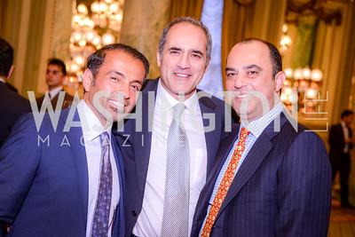 Fred Aryan, Farzin Arsanjani, and Mahmoud Ladjevardi, Iranian-American Nowruz Reception, The Willard Hotel, Tuesday, March 31, 2015, photo by Ben Droz.