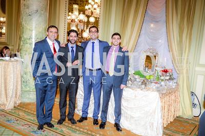 Alidad Mafinezam, Emad Kiyaei, Kayvon Afshari, and Kayvon Vakili , Iranian-American Nowruz Reception, The Willard Hotel Tuesday, March 31, 2015, photo by Ben Droz.