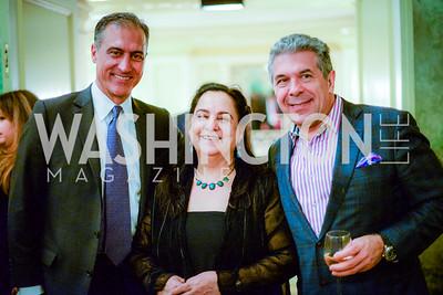 Shahryar Hakimi, Najmieh Batmanglij, and Robert Shahrokh Babayi, Iranian-American Nowruz Reception, The Willard Hotel Tuesday, March 31, 2015, photo by Ben Droz.