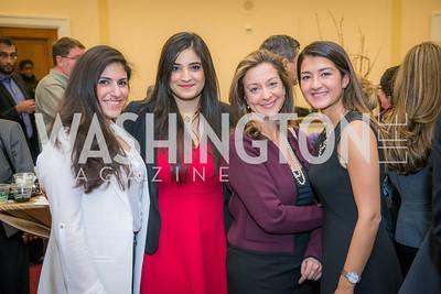 Shirin Jamshidi, Kimia Ramezani, Sashi Modjtabai, Setareh Ebrahimian, NOWRUZ On Capitol Hill, with PAAIA, and Special Guest Dr. Azar Nafisi, March 18, 2015, photo by Ben Droz.