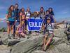 Freshmen orientation participants atop Mount Washington