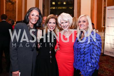 Meryl Comer, Karen Segal, Diane Rehm, Trish Vradenburg. Photo by Tony Powell. Out of the Shadows Reception. Union Station. September 30, 2015
