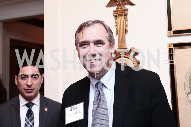 Sen. Jeff Merkley. Photo by Tony Powell. Patriotic Millionaires 5th Anniversary. Jefferson Hotel. November 17, 2015