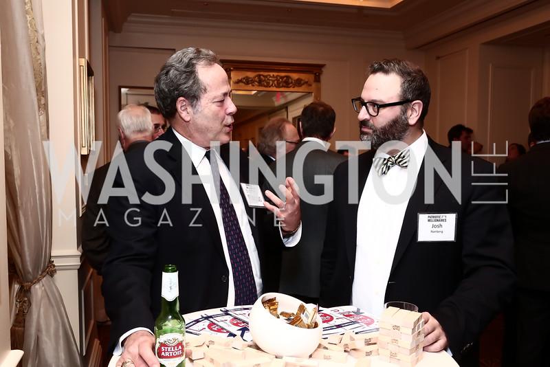 Glenn Marcus, Josh Nanberg. Photo by Tony Powell. Patriotic Millionaires 5th Anniversary. Jefferson Hotel. November 17, 2015