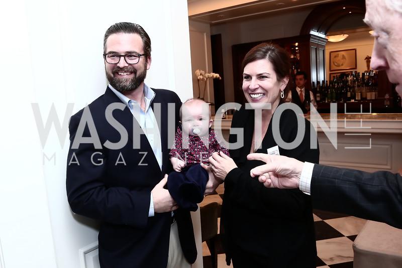 Gene Haigh, Ilsa Ruth Haigh, Erica Payne. Photo by Tony Powell. Patriotic Millionaires 5th Anniversary. Jefferson Hotel. November 17, 2015
