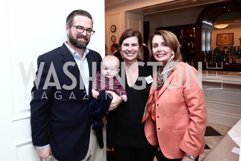 Gene Haigh, Ilsa Ruth Haigh, Erica Payne, Leader Nancy Pelosi. Photo by Tony Powell. Patriotic Millionaires 5th Anniversary. Jefferson Hotel. November 17, 2015