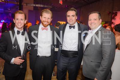 Todd Galaida, Carl Bedell, John Martinec, Phillips Contemporaries, Phillips Gala Bash, Tokyo Night, Union Market Dock 5, Friday May 8, 2015, photo by Ben Droz