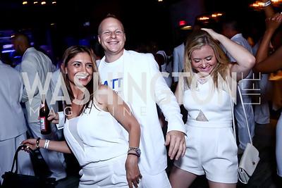 Tasha Tadi, Jason Bellin, Emily Blumberh. Photo by Tony Powell. Pierre Garcon's All White Charity Event. June 4, 2015