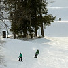 A couple of snowboarders make their way down a trail at Wachusett Mountain Ski Area in Princeton, Wednesday afternoon.<br /> SENTINEL & ENTERPRISE / BRETT CRAWFORD