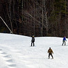 Skiers and snowboarders make their way down a trail at Wachusett Mountain Ski Area in Princeton, Wednesday afternoon.<br /> SENTINEL & ENTERPRISE / BRETT CRAWFORD