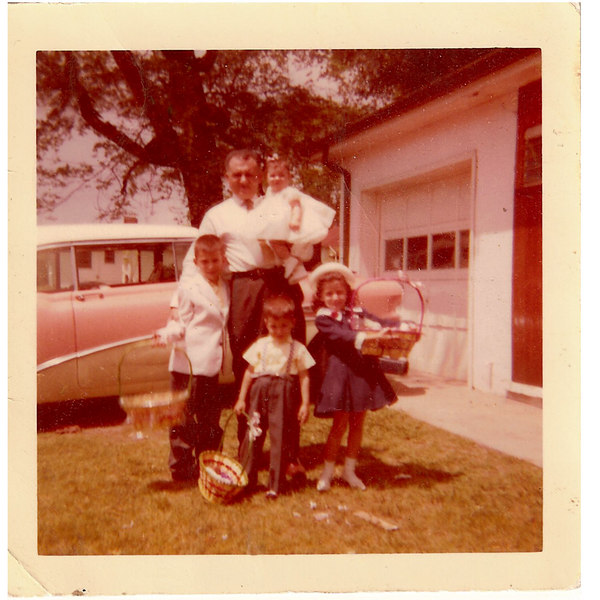 My Dad with Frank 6, Marilyn 5, Sam 3, and Kathy 7 months, back in 1957.   Rick was born in 1959 and I was born in 1966.