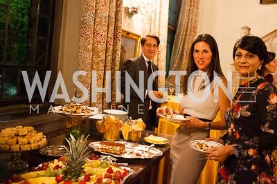 Guests enjoying the wonderful dessert after dinner.