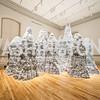 Artist Tara Donovan's work, Untitled, 2014. Photo by Tony Powell. Renwick Gallery Opening Gala: Celebrate WONDER. November 11, 2015