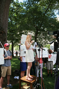 This young lady was the MC/Host for Restore the 4th, she introduced each speaker