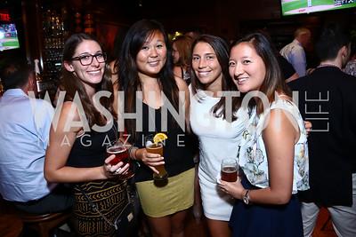 "Leah Bross, Laura Wang, Katie Johnston-Davis, Ann Li. Photo by Tony Powell. ""Salam Neighbor"" Screening and Reception. June 20, 2015"