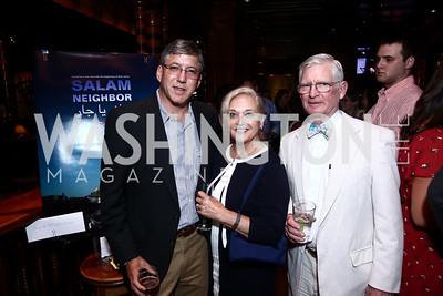 "Erik Nyce, Jane and Ralph Powers. Photo by Tony Powell. ""Salam Neighbor"" Screening and Reception. June 20, 2015"